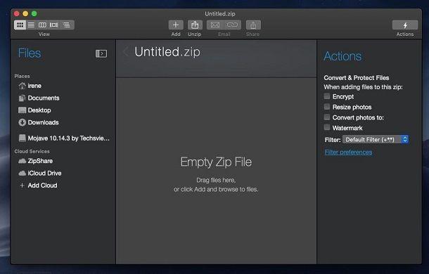 WinZip su macOS