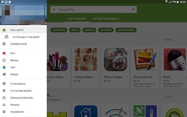 Screenshot che mostra come eliminare app Android