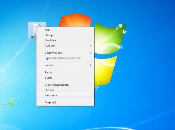 Screenshot di Windows 7