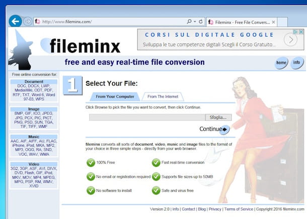Screenshot di Fileminx su Windows 7