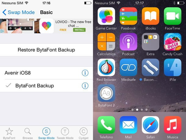 Come cambiare font iPhone