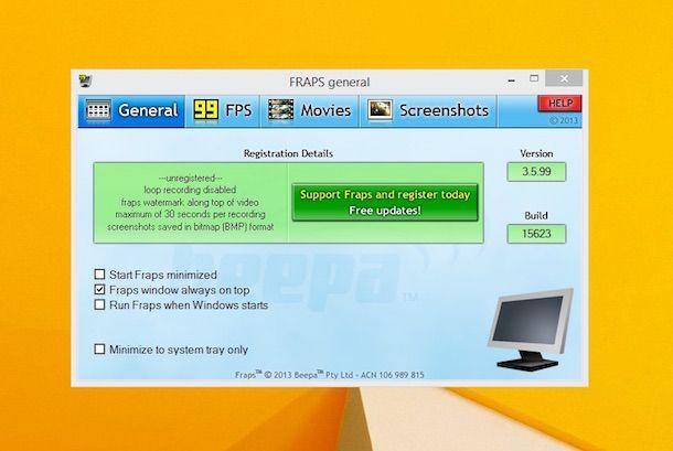Screenshot di Fraps