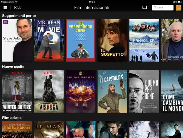 Come guardare film su iPad