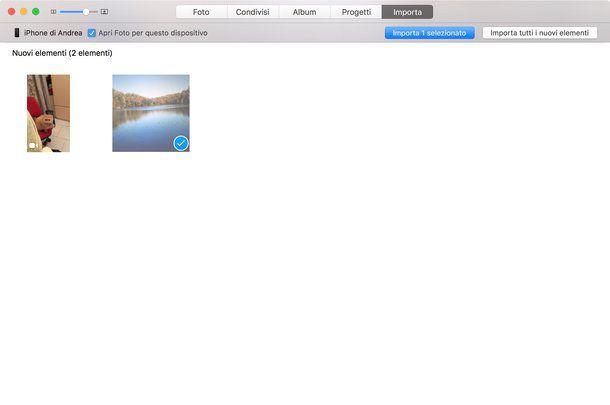 Come importare foto da iPhone