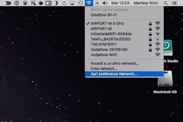 Screenshot che mostra come impostare DNS su Mac