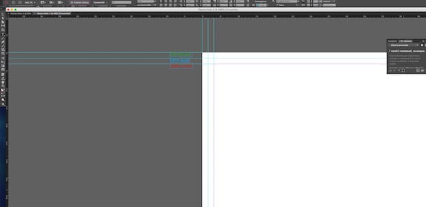 Screenshot di InDesign