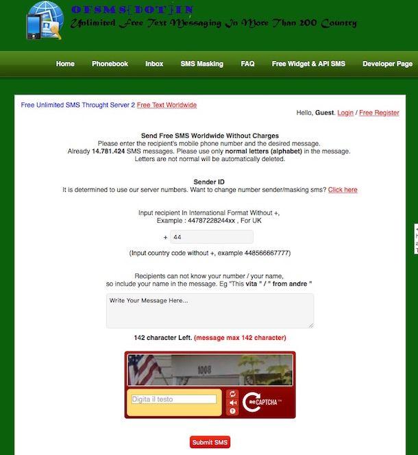 Screenshot di Send Free SMS Anywhere