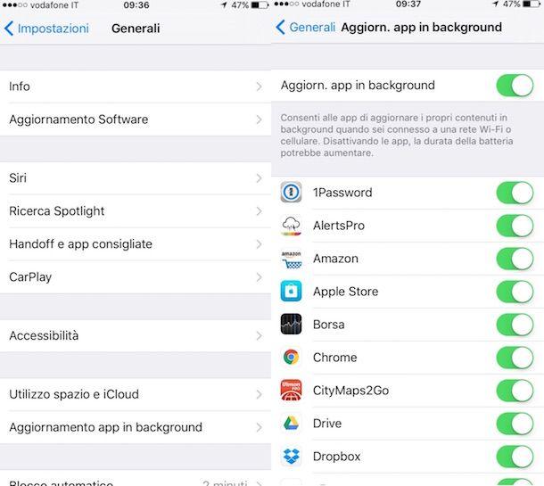Screenshot di iPhone