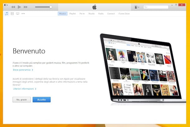 Screenshot di iTunes su Windows