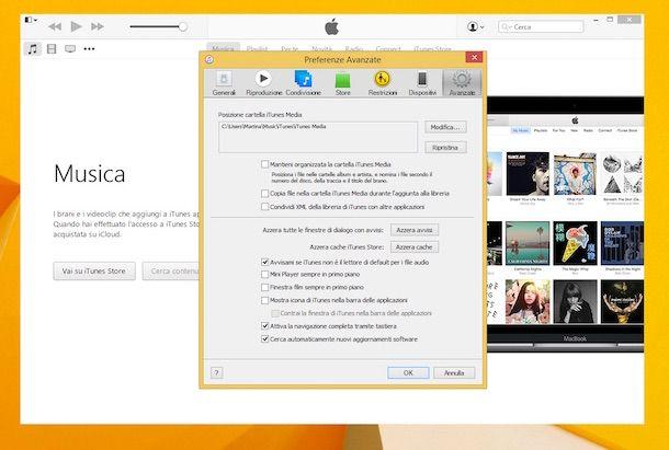 Screenshot di iTunes su Windows