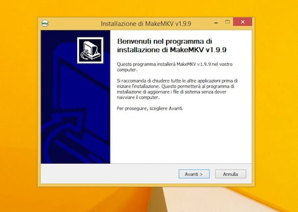 Screenshot di MakeMKV
