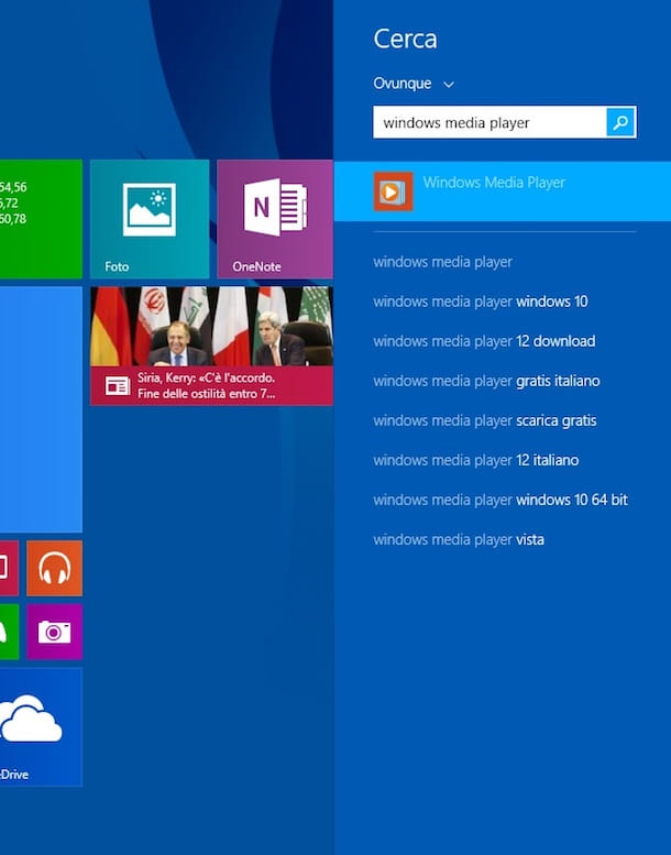 Screenshot che mostra come masterizzare CD su Windows 8