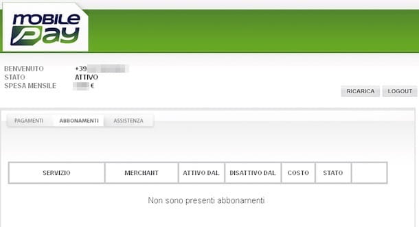 Screenshot di MobilePay
