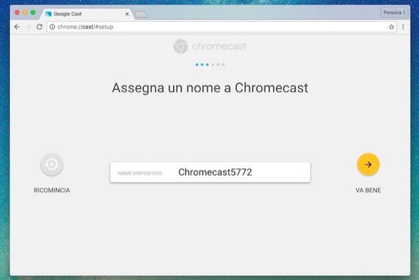 Come configurare Chromecast
