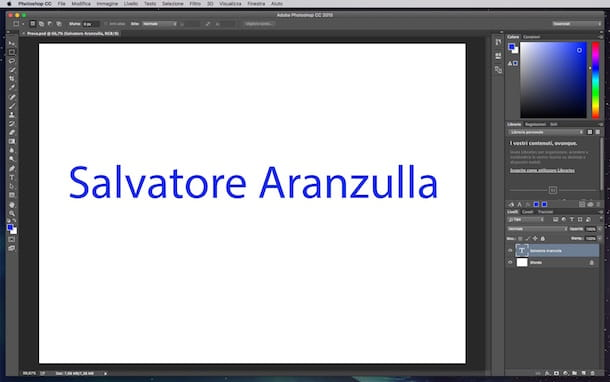 Screenshot di Photoshop su Mac