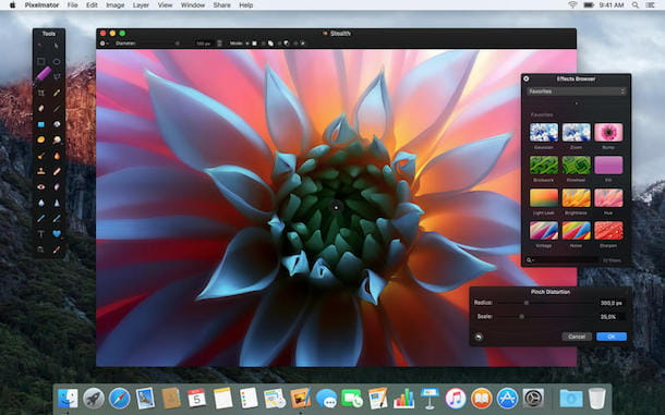 Screenshot di Pixelmator