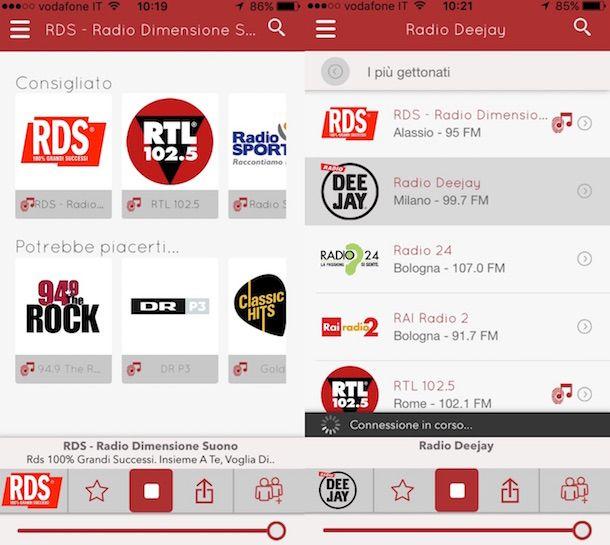 Screenshot di myTuner Radio Italia