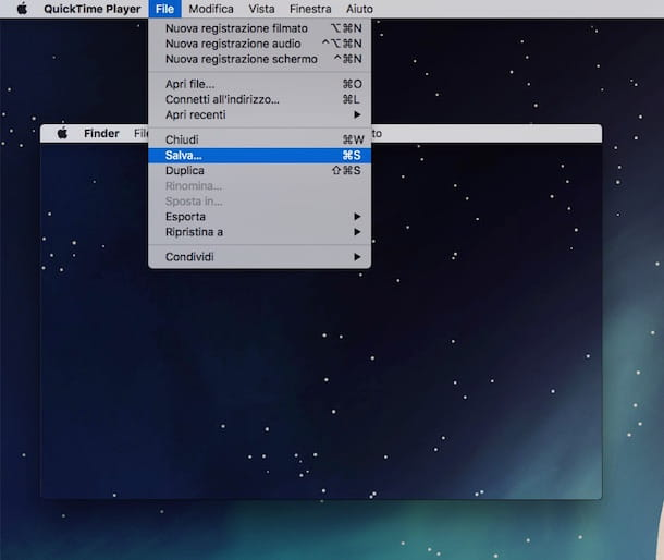 Screenshot che mostra come registrare video desktop