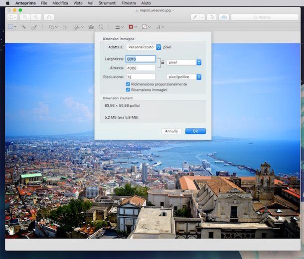 Screenshot o di Anteprima su OS X