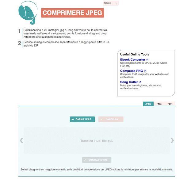 Screenshot di Compress JPEG e PNG
