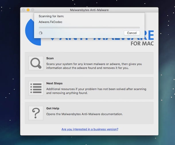 Screenshot che mostra come MacKeeper