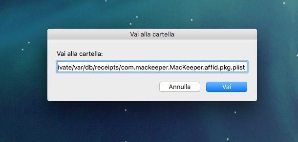 Screenshot che mostra come MacKeeper