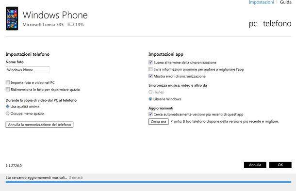 Come ripristinare Windows Phone