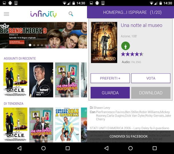 Come scaricare film Android