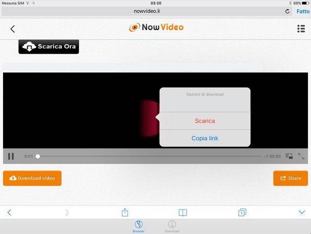 Come scaricare video su iPad