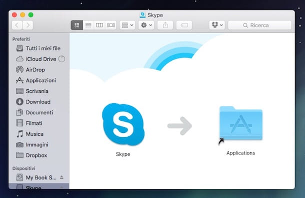 Screenshot di Skype su Mac