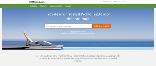 Screenshot di TripAdvisor