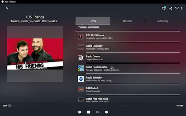 Screenshot di TuneIn Radio