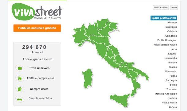 Screenshot di VivaStreet