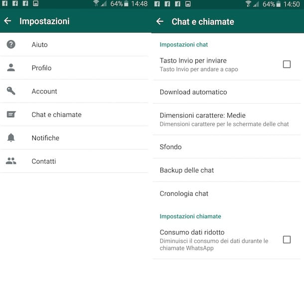 Screenshot di WhatsApp su Android