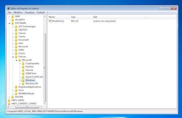 Screenshot di Windows Update su Windows 7
