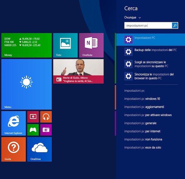 Screenshot che mostra come formattare Windows 8 senza CD