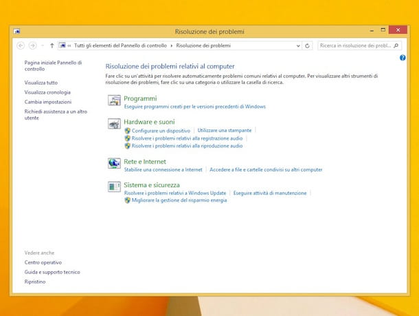 Screenshot di Windows Update su Windows 8