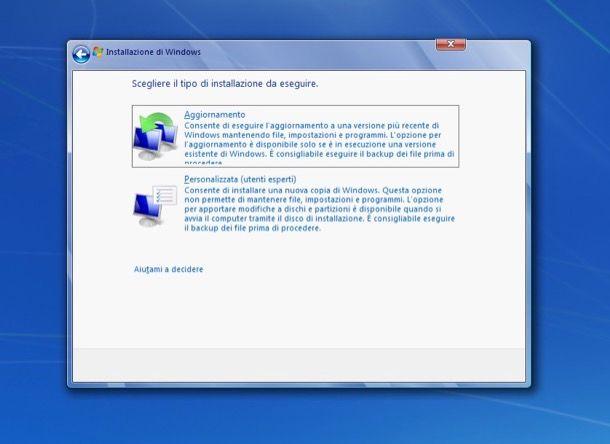 Come aggiornare XP a Windows 7