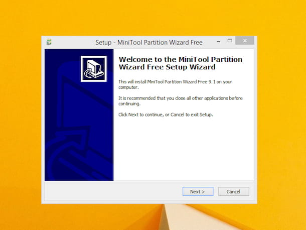 Screenshot di MiniTool Partition Wizard Free Edition