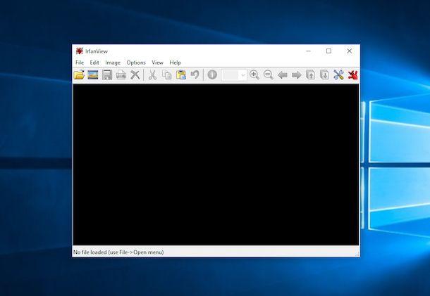 Screenshot che mostra come aprire file JPG
