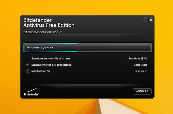 Screenshot di Bitdefender su Windows