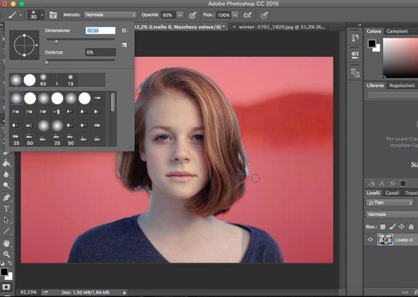 Come cambiare sfondo foto