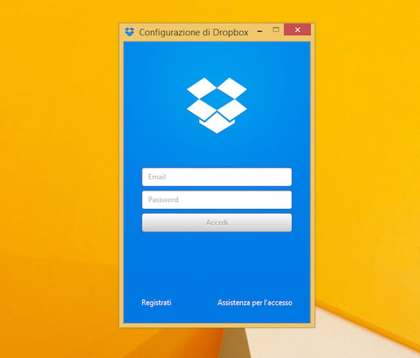 Screenshot di Dropbox su Windows 8