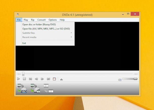 Screenshot di DVDx
