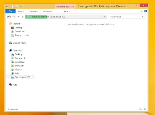 Screenshot di Esplora file su Windows