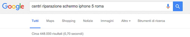 Screenshot di Google iPhone 5