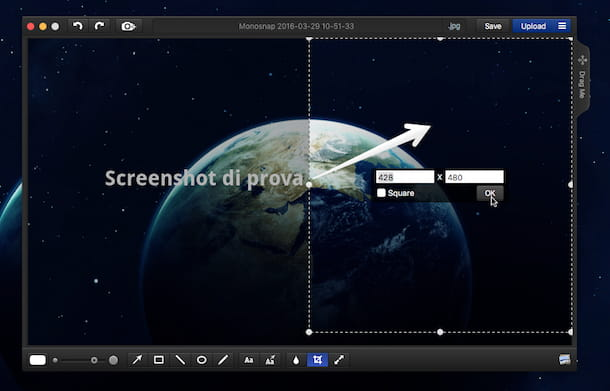 Screenshot di Monosnap su Mac