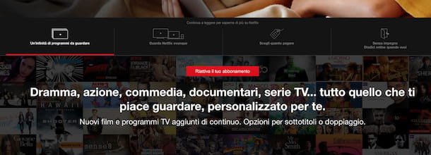 Screenshot che mostra come disdire Netflix