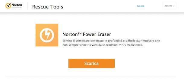 Screenshot di Norton Power Eraser