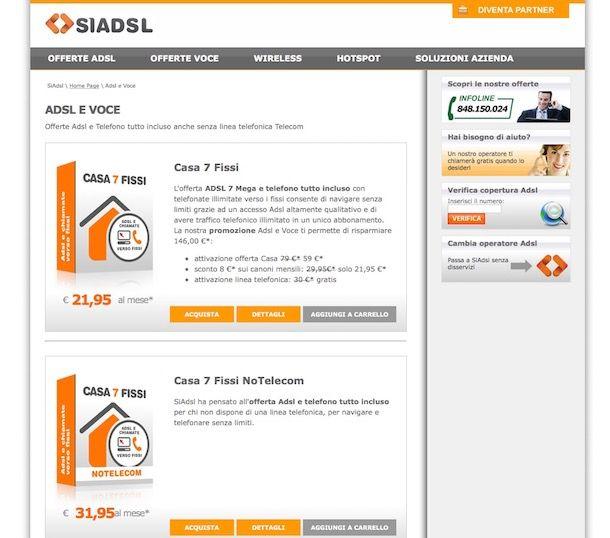 Offerte ADSL: tariffe migliori a confronto